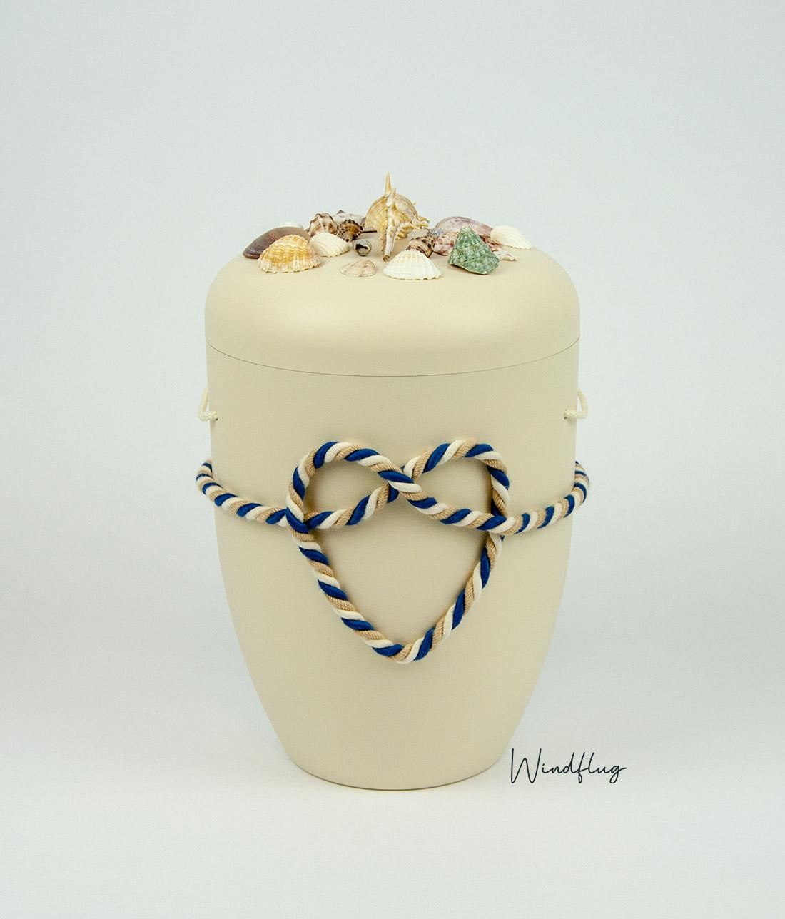 """Urnen-Variante """"Das Meer"""" in Beige"""