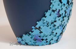 Lebenspuzzle Blau