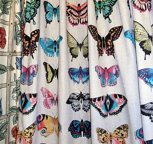 Beautiful Harlequin Butterfly Fabric from Cornmeter
