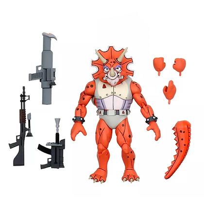 "Triceraton Infantryman and Roadkill Rodne - TMNT Cartoon 3-Pack - 7"" NECA"