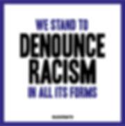 Statement Tile generic dennounce racism.