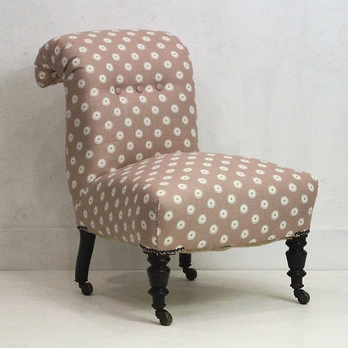 French Antique Bedroom Chair / Chauffuese - Vanessa Arbuthnott Fabric