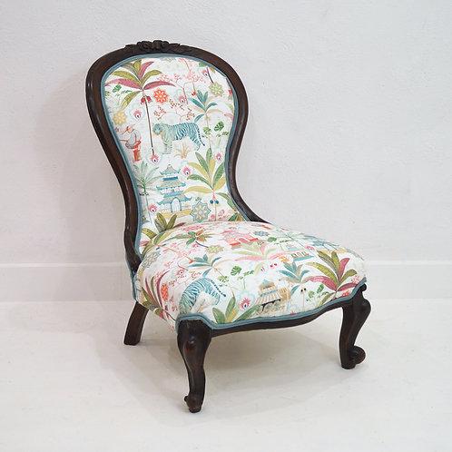 An Antique Slipper Chair