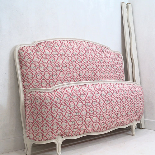 Vintage French Louis XV Double Demi-Corbeille Bed