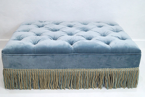 A Vintage Inspired Large Buttoned Footstool