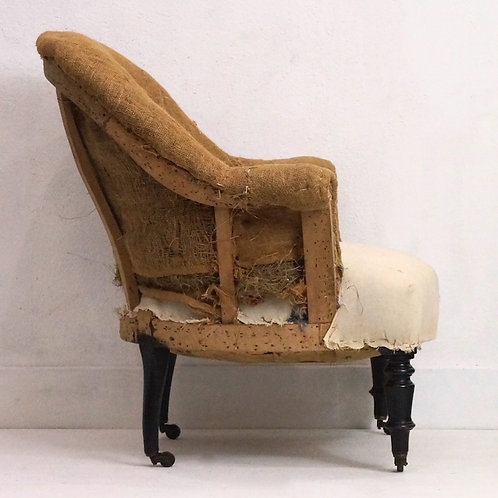 An Antique French Louis Philippe Crapaud / Tub Chair