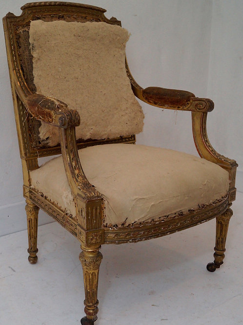 Fabulous French 19th Century Louis XVI Armchair