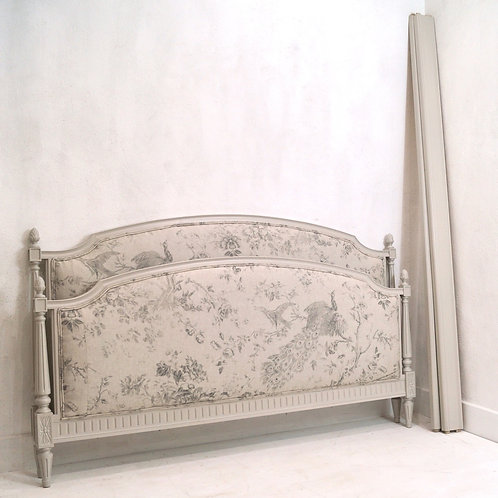 Vintage French Louis XVI Kingsize Painted Bed