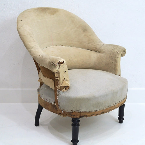 A French Louis Philippe Crapaud Tub Chair