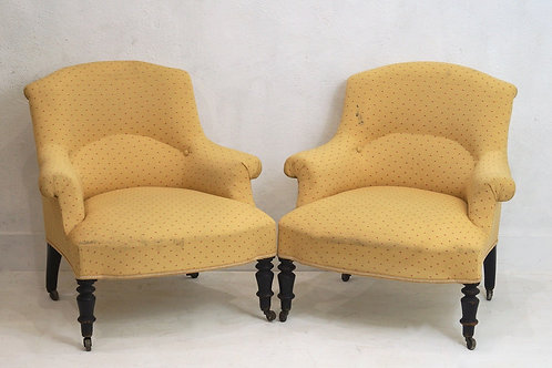 A Rare Pair of 19th Century French Nursing / Bedroom Chairs