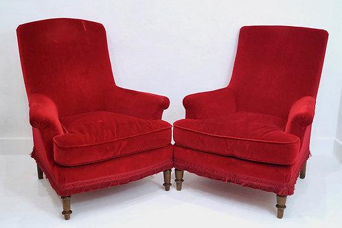 Two French 19th Century Napoleon III Armchairs
