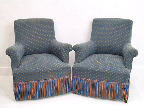 A Pair of French Antique Armchairs - Napoleon III