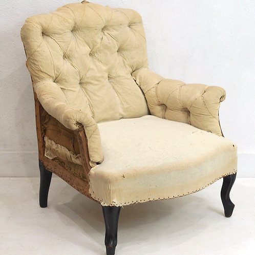 A Fabulous 19th Century French Napoleon III Buttoned Armchair