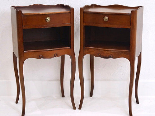 A pair of Vintage French Single Drawer Bedside Tables