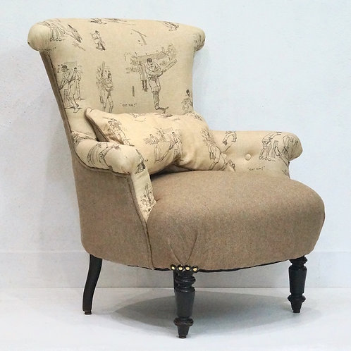 An Antique French Upholstered Armchair