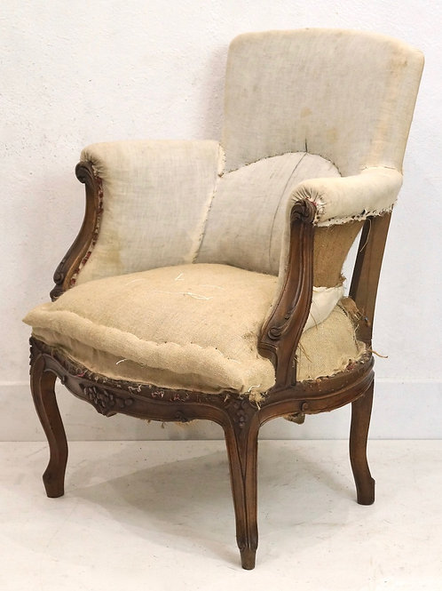 19th Century French Louis XV Bergere Armchair