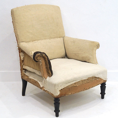An Antique French Napoleon III Armchair