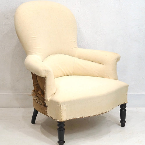 Vintage French Louis Philippe Balloon Back Armchair