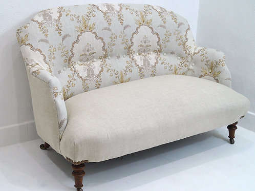 A Restored Antique English Two Seater Sofa