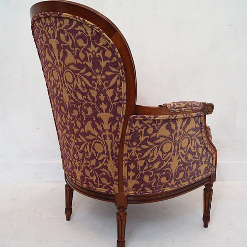 Stunning French Louis XVI Bergere Armchair