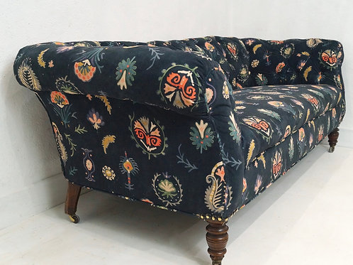 A Rare Antique English Chesterfield Sofa