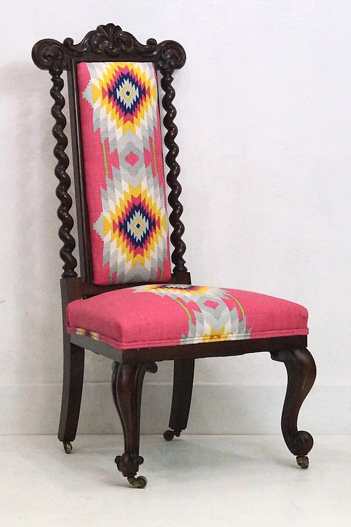 Antique Occassional / Bedroom Chair in Andrew Martin Fabric
