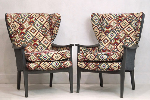 Pair of restored Vintage Parker Knoll Wingback Armchairs PK924/5/6/7