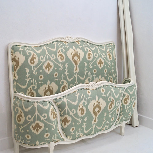 A Vintage French Double Demi Corbeille Bed Frame