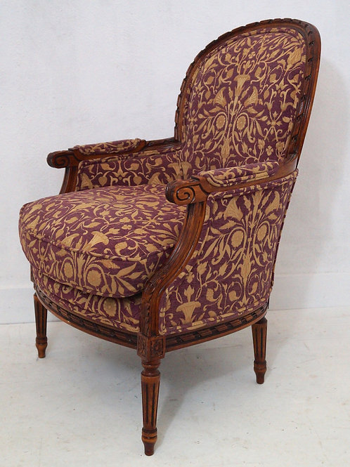 Fabulous French Louis XVI Bergere Armchair