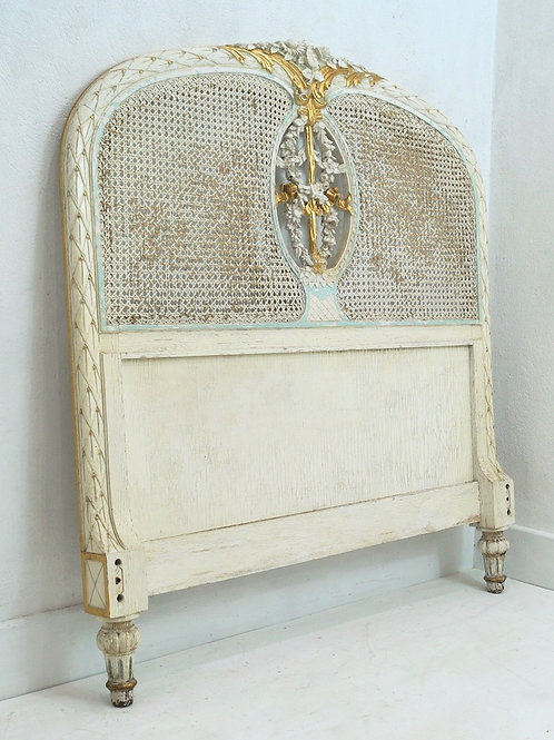 An Antique French Louis XVI 3ft Single Headboard