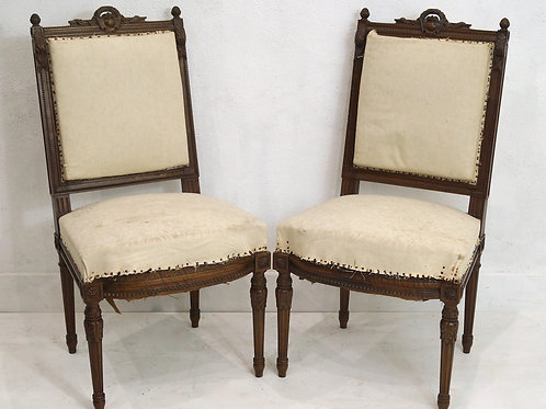 Pair of late 19th Century French Louis XVI Occassional Chairs