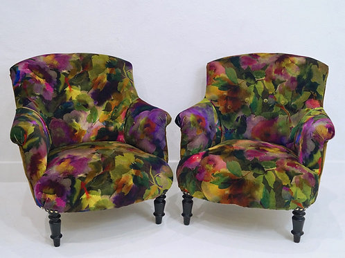 A Beautiful Pair of 19th Century French Tub Chairs