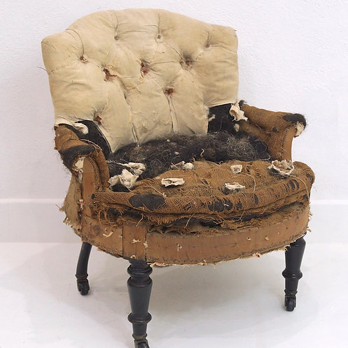 A Gorgeous 19th Century French Buttoned Bedroom Chair
