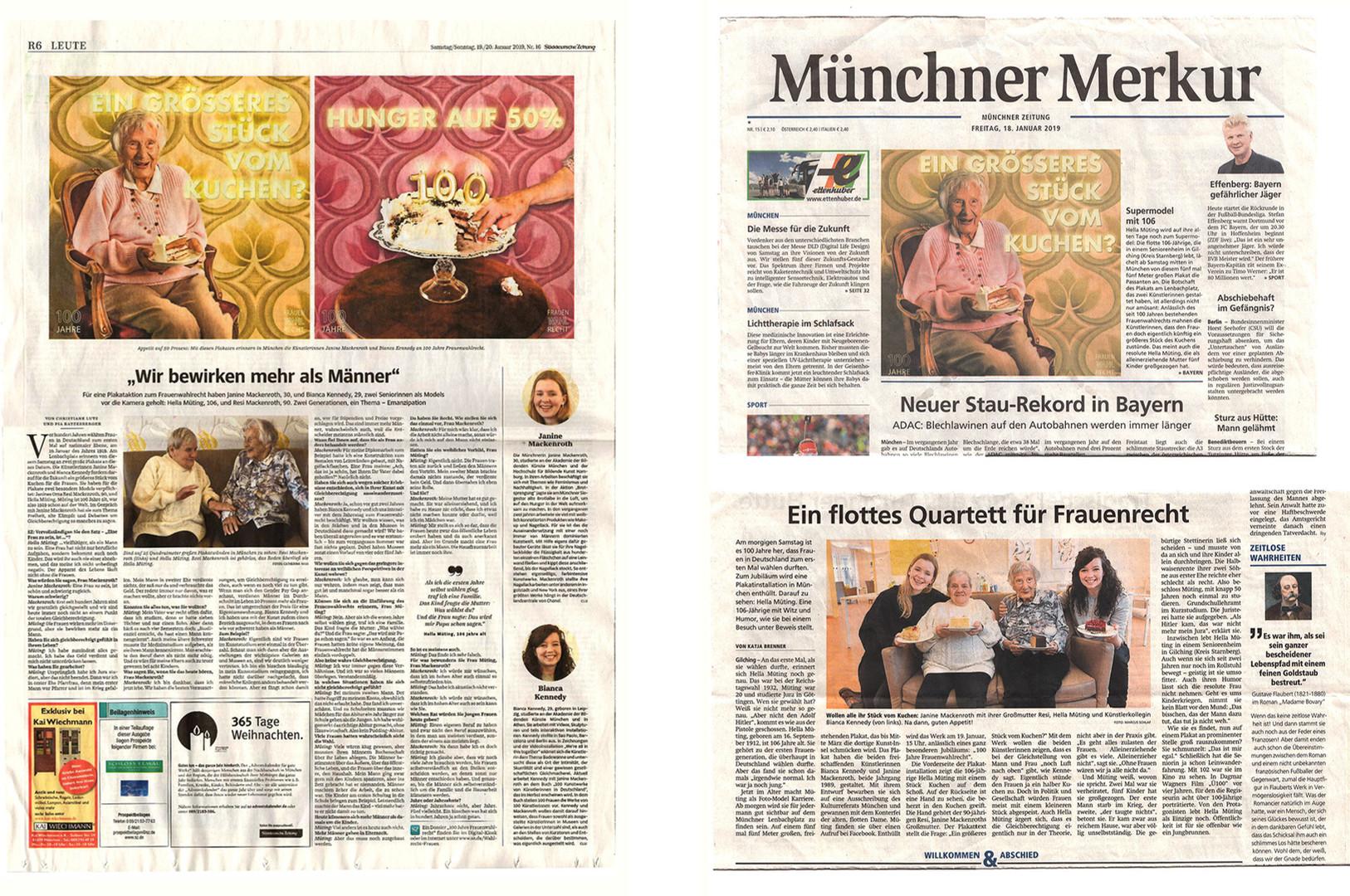 Süddeutsche Zeitung & Merkur
