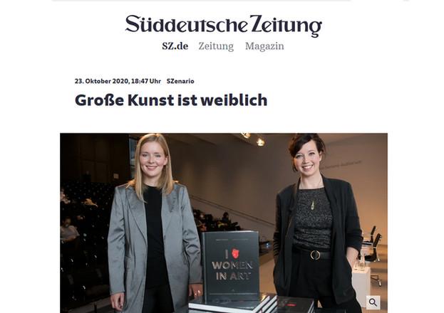 """Süddeutsche Zeitung – """"Große Kunst ist weiblich"""