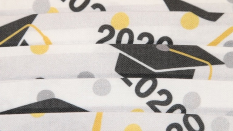 Graduation 2020 Print Face Mask Up Close