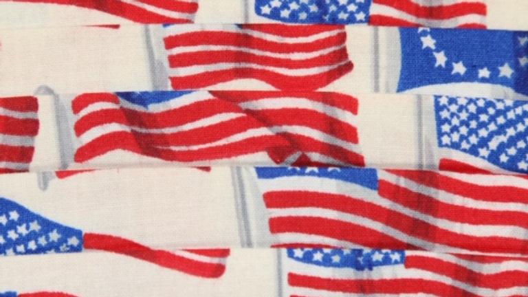 United States Flag Patriotic Face Mask Print Up Close