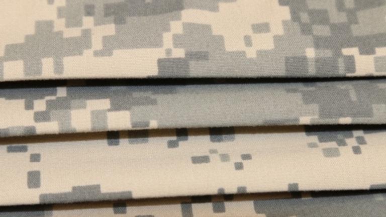 Military Digital Camo Face Mask Print Up Close