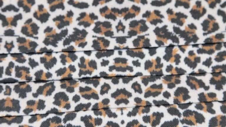 Leopard/Cheetah Print Face Mask Up Close