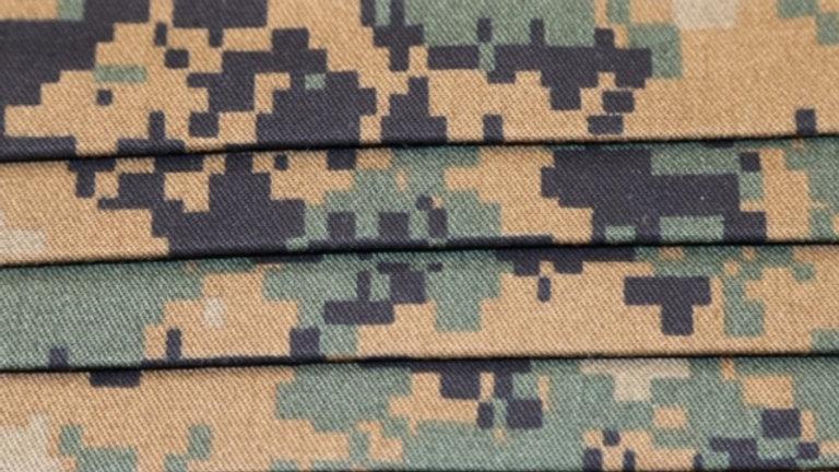 Military Digital Marine Face Mask Print Up Close