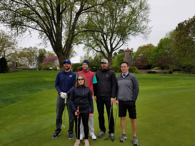 Katya with some golfers