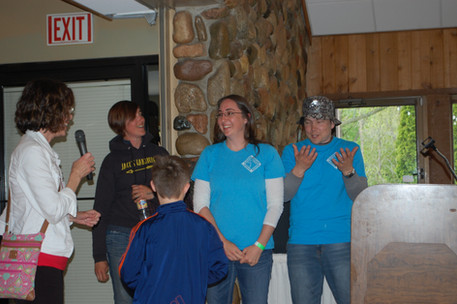 Instructors Heather (left) and Sarah and Committee member Jeremia
