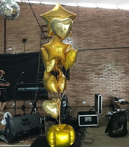 Buquê de balões à gás para o Réveillon n