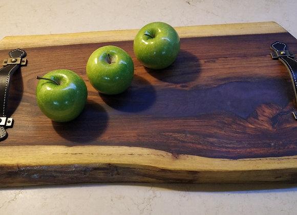 מגש עץ ואפוקסי סגול