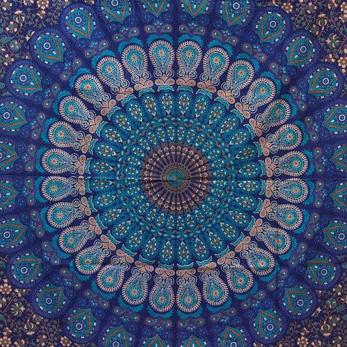 Double Cotton Bedspread/Wall Hanging - Classic Mandala
