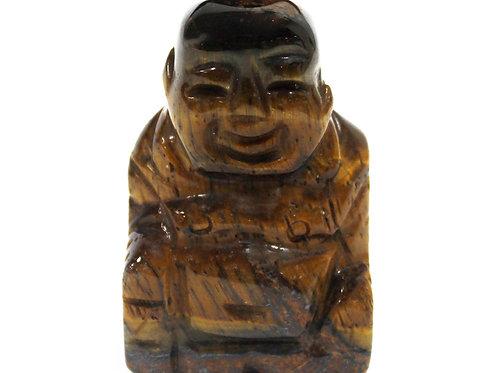 Gemstone Buddha - Tiger Eye