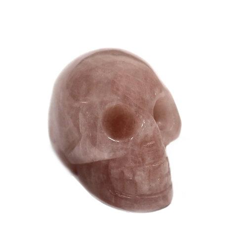 Gemstone Skull - Rose Quartz