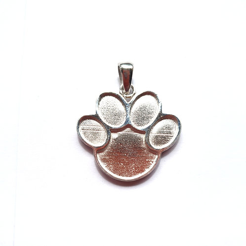 Silver Paw Pendant for Ashes