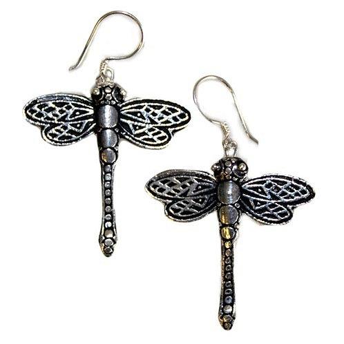 Silver Earrings - Dragonflies