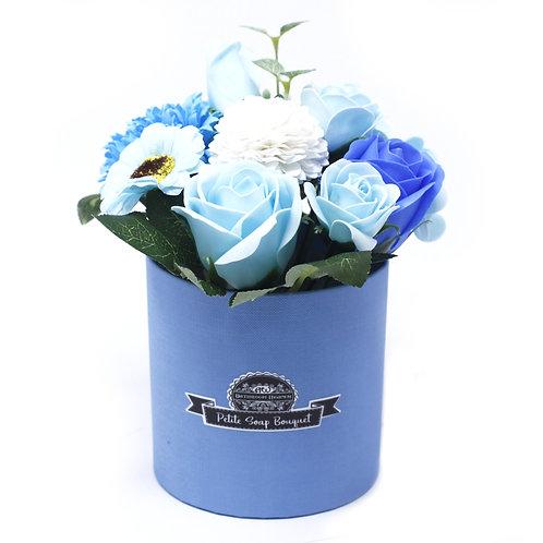 Petite Flower Soap Bouquet Soothing Blues